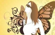 Fashion Pattern Girl Vector Illustration 63