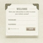 Vintage Welcome and Login Form Design PSD