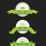 Clean and Simple Ribbon and Badge Design PSD