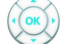Green and White Control Button Design PSD
