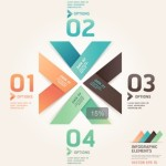 Numeric Data Options For Infographic Vector 02