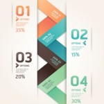 Numeric Data Options For Infographic Vector 03