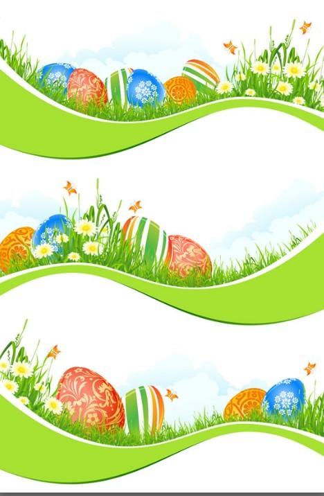 egg borders clip art