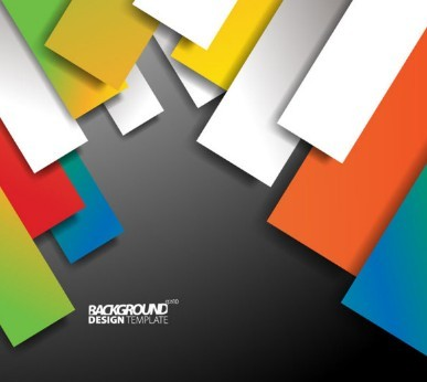 free colored shapes vector background design template 02 titanui
