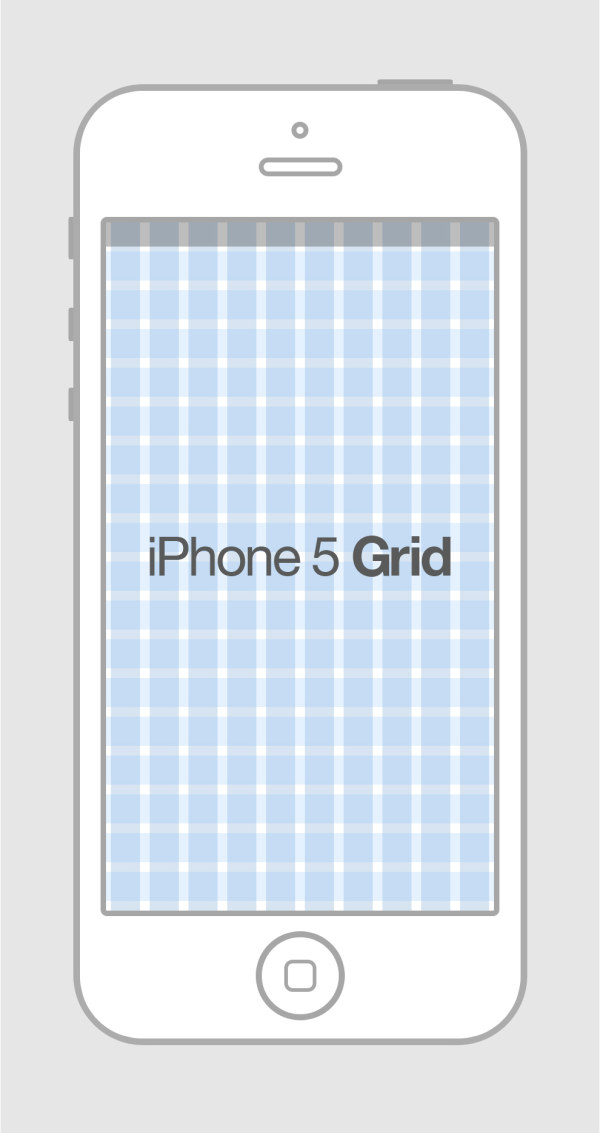 Free iphone 5 grid template psd titanui for Iphone 5 sticker template