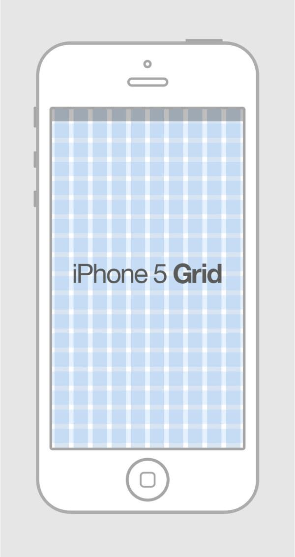 Free iPhone 5 Grid Template PSD - TitanUI Iphone 5 Template Psd