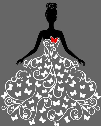 Free creative wedding dress design vector illustration 02 titanui