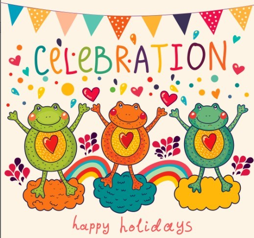 free vector cartoon happy holiday background for kids 04 titanui
