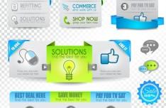 Creative Website Menu Designs Vector 04