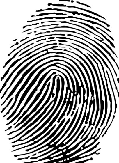 White Fingerprint Png Black adn white fingerprint