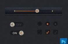 Leather UI Kit PSD (Part 1)