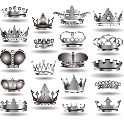 6969 Set Of Elegant Imperial Crown Designs Vector 02 on king and queen crown drawing