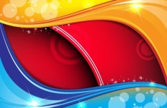 Three-dimensional & Colorful Abstract Background Vector 02