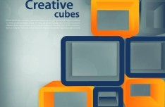 Creative Vector Background with Yellow and black Cubes 01