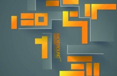 Creative Vector Background with Yellow and black Cubes 03