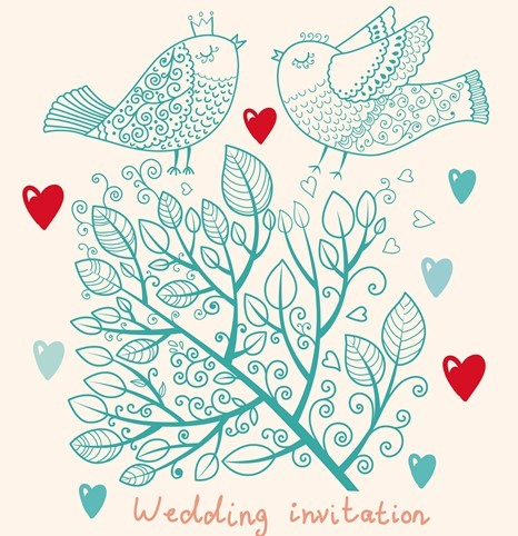 wedding card invitation designs .free hand drawn wedding, Wedding invitation