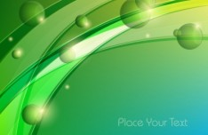 Vector Abstract Background With Green Leaves 03