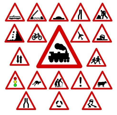 Traffic Signs And Symbols Vector traffic signs and