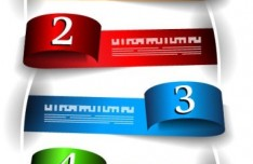 Colored Numeric Labels For Infographic 02