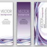 Elegant Vertical Banner Background Vector 03