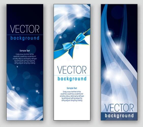 free elegant vertical banner background vector 05