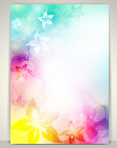 Free beautiful shining floral background vector 04 titanui for Beautiful wallpaper design for home decor