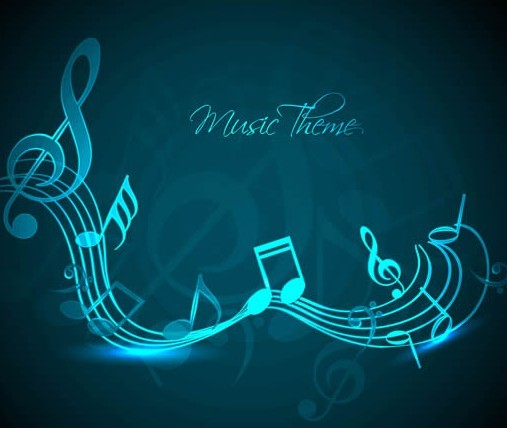 free blue music themed background vector titanui