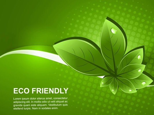 free eco friendly concept vector green leaves background 01 titanui. Black Bedroom Furniture Sets. Home Design Ideas