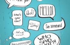 Hand-Drawn Comic Book Speech Bubbles Vector