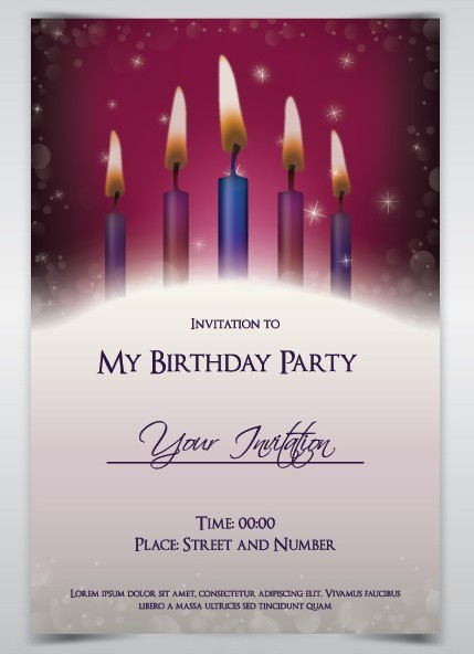 Free Birthday Party Invitation Card Template Vector TitanUI – Birthday Party Invitation Card Format