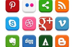 20+ Gradient and Plain Social Media Icon Pack