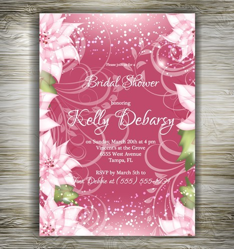 Free Beautiful Floral Wedding Invitation Card Design