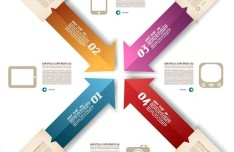 Colored Numeric Labels For Infographic 12