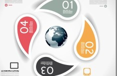 Colored Numeric Labels For Infographic 14
