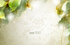 Elegant Leaves and Floral Background Vector 02