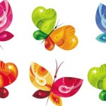 Vector Colorful Butterfly Designs & Illustrations 01