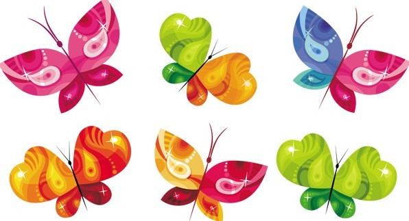 free vector colorful butterfly designs amp illustrations 01