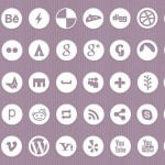White and Dark Minimal Social Icons Pack