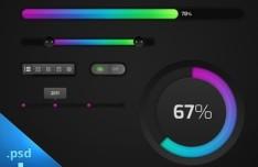 Marek's Clean UI Kit PSD
