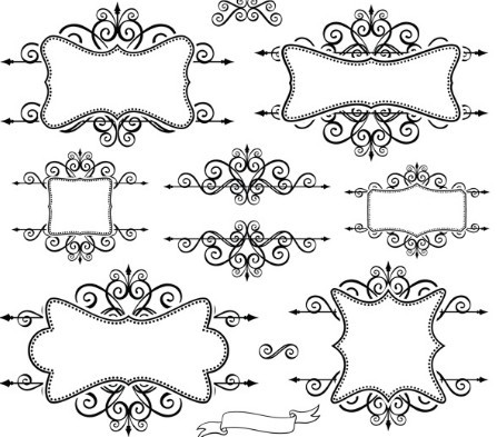 Aninimal Book: Free Simple Black Floral Borders and Frames Vector 01 ...