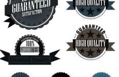 Vintage Satisfaction Guaranteed Badges and Labels Vector 02