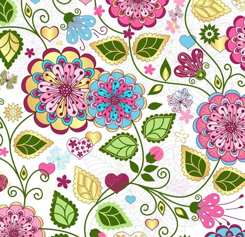 Flowers Pattern Vector...