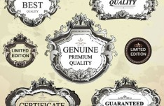High Quality Vector Antique Label Set 01
