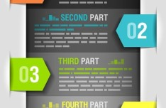 Colored Numeric Labels For Infographic 35