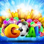 Colorful Football Goal Background Vector 01