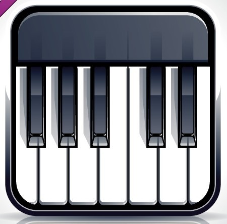 Free Elegant Vector Piano Keyboard App Icon - TitanUI