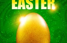 Elegant Happy Easter Card Templates Vector 01