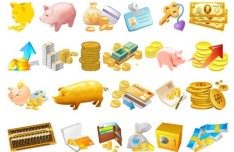 Vector Cartoon Currency Elements Icons
