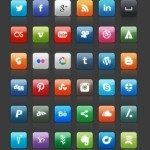 Glossy Social Media Icon Set