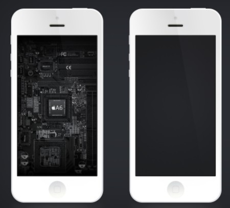 Free clean iphone 5 template psd titanui for Iphone 5 sticker template